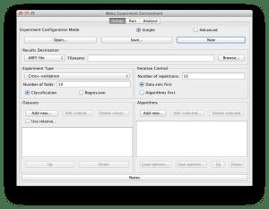 Weka Experimenter Interface
