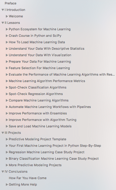Master Machine Learning with Python Table of Contents