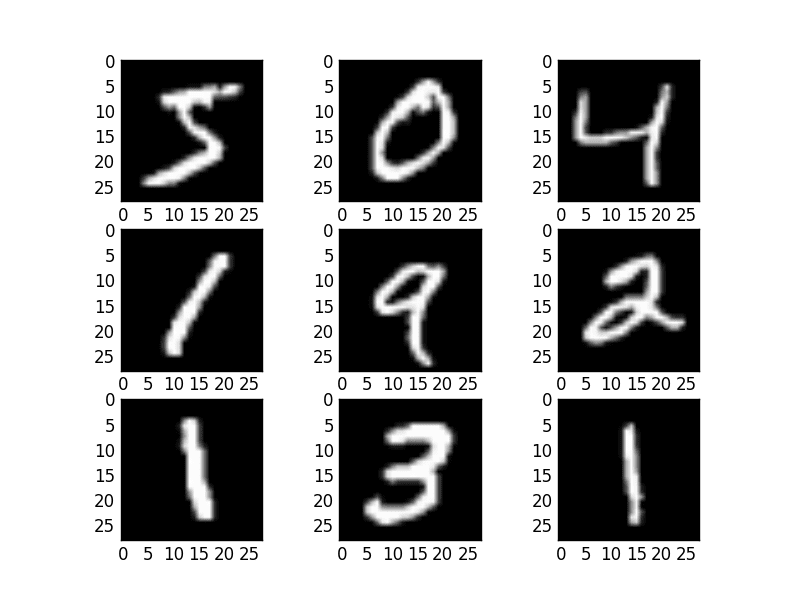 Example MNIST images