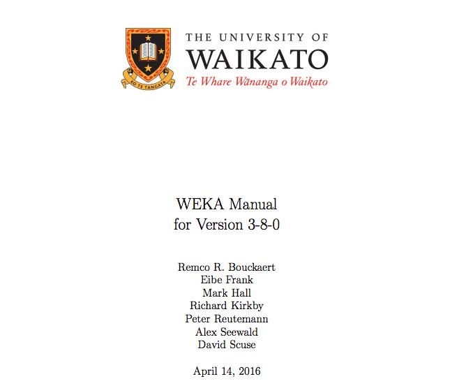 Weka Manual