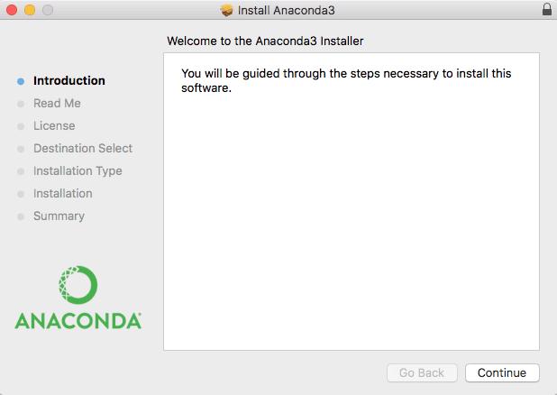 Anaconda Python Installation Wizard
