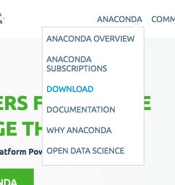 Click Anaconda and Download