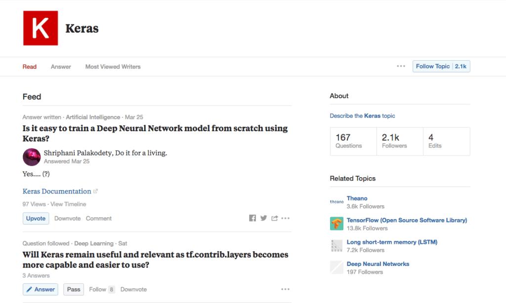 Keras topic on Quora