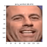 Detected Face of Jerry Seinfeld, Correctly Identified by the SVM Classifier