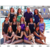 Swim Team Photograph With Bounding Boxes and Facial Keypoints Drawn for Each Detected Face Using MTCNN