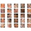 Plot of Randomly Generated Faces Using the Loaded GAN Model