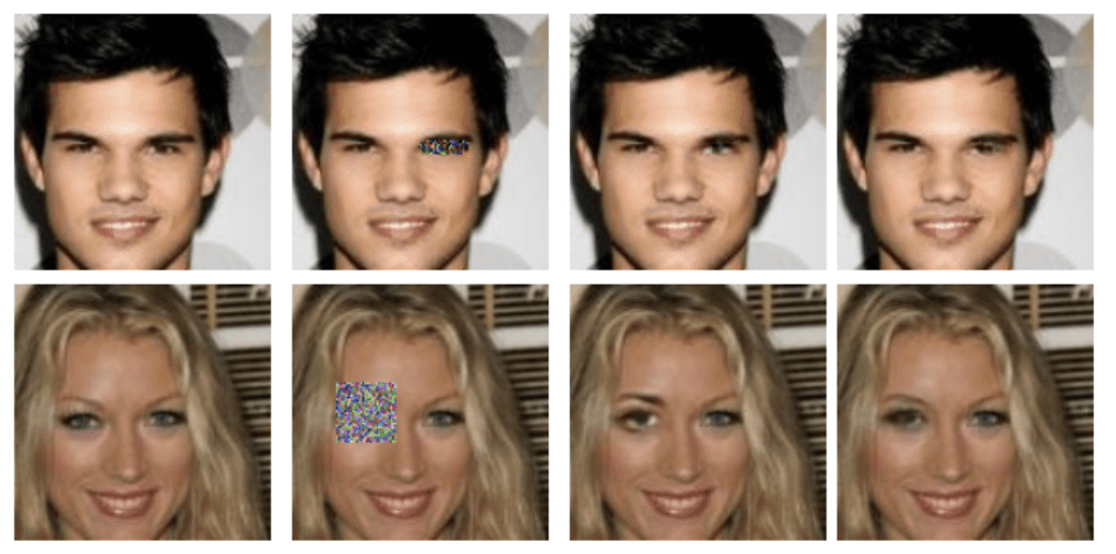 Example of GAN Reconstructed Photographs of Faces