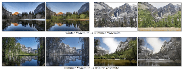 Example of Season Transfer from Winter to Summer and Summer to Winter