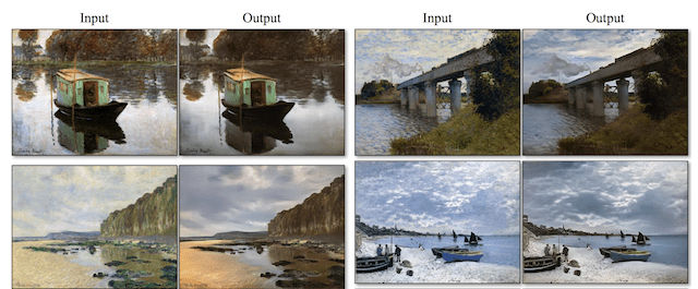 Example of Translation from Paintings to Photographs with CycleGAN